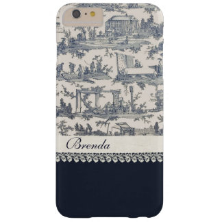 Chic Blue French Toiles Custom iPhone 6 Plus Case