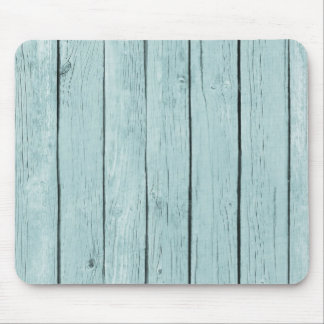 Chic Blue Rustic Wood Mouse Pad