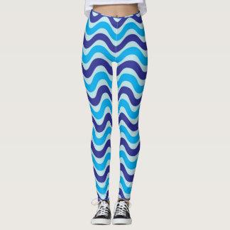Chic Blue Weave Design By Madison Custom Leggings