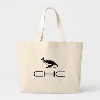 CHIC - Blue Whale motif Jumbo Tote Bag