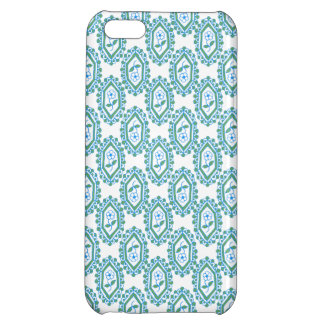 Chic Blue White Vintage Periwinkle Floral Pattern Cover For iPhone 5C