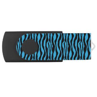 Chic Blue Zebra Print USB Swivel USB 3.0 Flash Drive