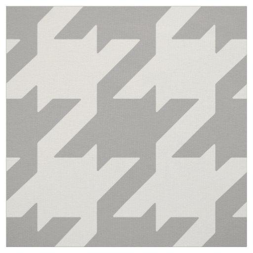 Chic bold neutral grey beige houndstooth pattern fabric