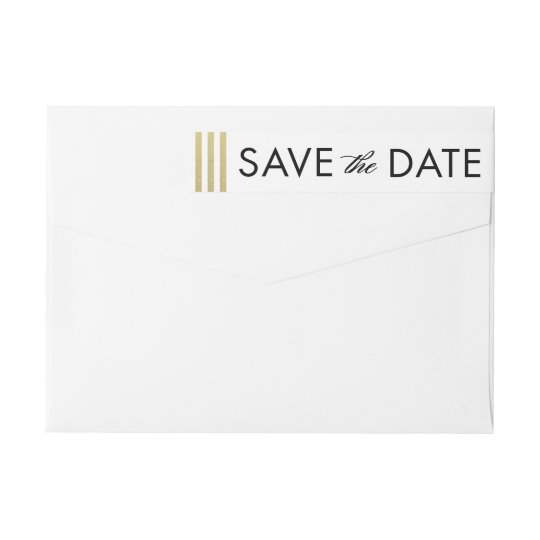Chic Border EDITABLE COLOR Save The Date Label