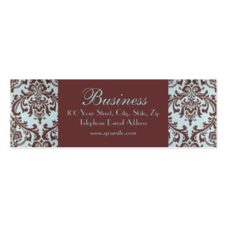 Chic Boutique Blue Fabric Skinny Business Card 1