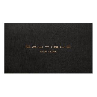 Chic Boutique Faux Black Linen Professional Unique Pack Of Standard Business Cards