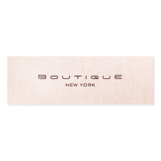 Chic Boutique Faux Light Pink Linen Business Card