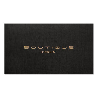 Chic Boutique Imitat Leinen Professionelle Double-Sided Standard Business Cards (Pack Of 100)