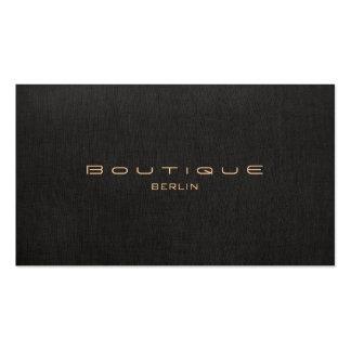 Chic Boutique Imitat Leinen Professionelle Business Cards