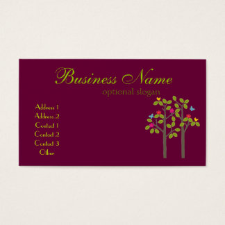 Chic Boutique Plum Business Card