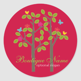 Chic Boutique Red BUSINESS OCCASION GIFT STICKER