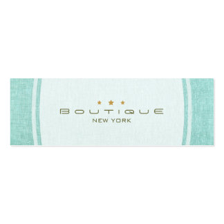 Chic Boutique Simple Turquoise Blue Linen Look Pack Of Skinny Business Cards
