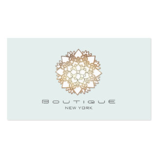 Chic Boutique White Lotus Flower Light Blue Pack Of Standard Business Cards