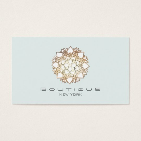 Chic Boutique White Lotus Flower Light Blue Business
