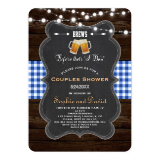 """Chic BREWS Before Their """"I Do's"""" Engagement Card"""