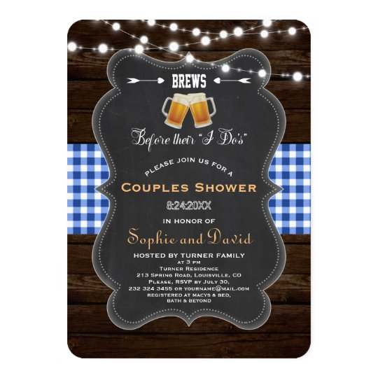"Chic BREWS Before Their ""I Do's"" Engagement Card"