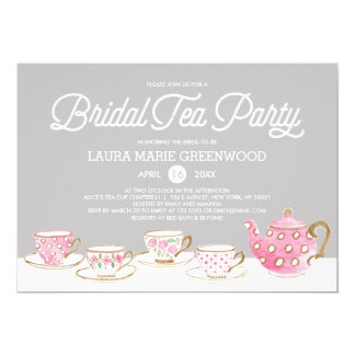 Bridal Shower Tea Party Invitations & Announcements | Zazzle.co.uk