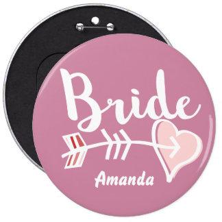 Chic bride 6 cm round badge