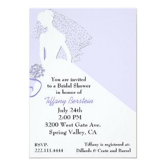 Chic Bride in Veil Bridal Shower Invitation