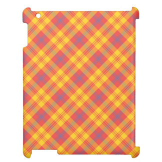 Chic Bright Red Yellow Blue Plaid iPad Savvy Case iPad Cover