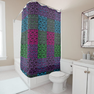 Chic Brights Animal Print Shower Curtain