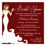Chic Burgundy Wine Bridal Shower Invitation