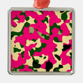 Chic camouflage Silver-Colored square decoration