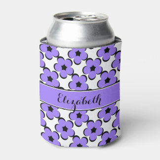 CHIC CAN COOLER_MODERN 181 PURPLE/BLACK FLORAL CAN COOLER