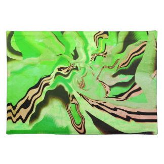 Chic Chartreuse Green Cloth Placemats