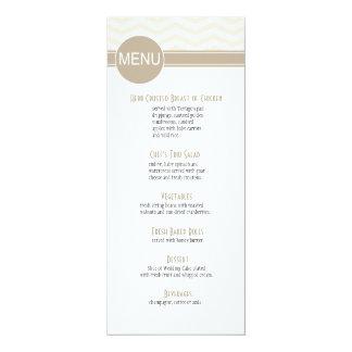 Chic Chevron Dinner Menu | blush 10 Cm X 24 Cm Invitation Card