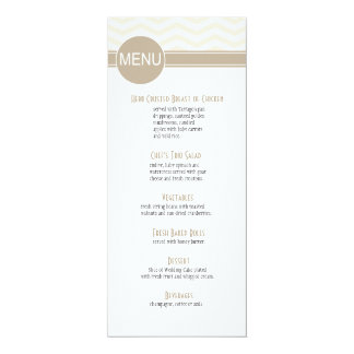 Chic Chevron Dinner Menu | blush Personalized Invite