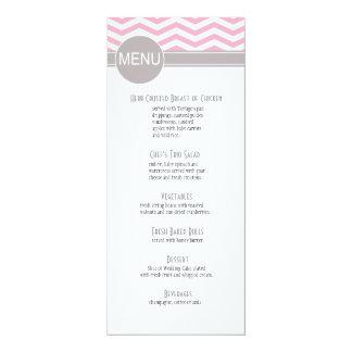 Chic Chevron Dinner Menu | pink Announcements