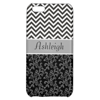 Chic Chevron Floral Cover For iPhone 5C