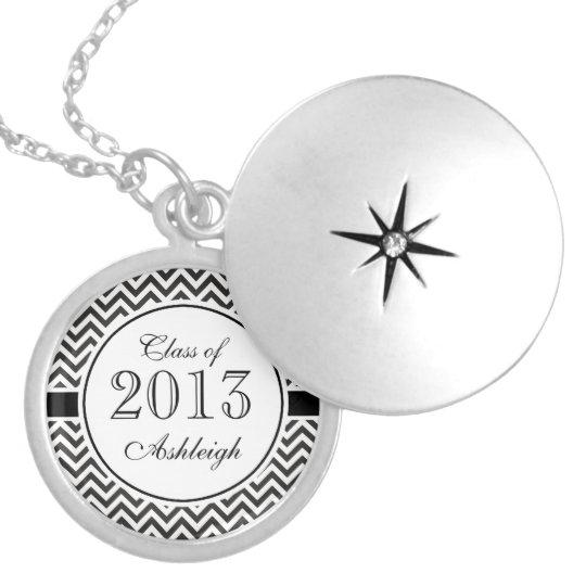 Chic Chevron Graduation Locket Necklace