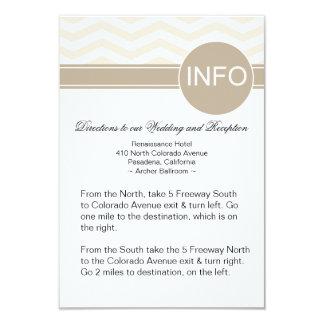 Chic Chevron Info Wedding Directions | blush 9 Cm X 13 Cm Invitation Card