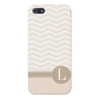 Chic Chevron Monogram | blush Case For The iPhone 5