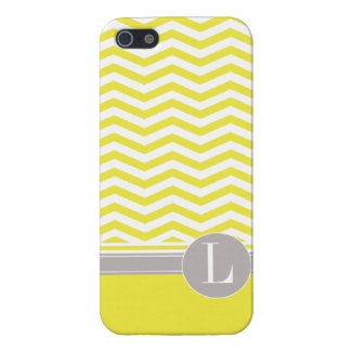 Chic Chevron Monogram | yellow iPhone 5 Case