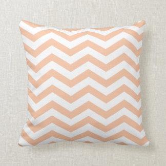 Chic Chevron   peach Pillow