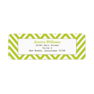 Chic Chevron Return Address Label