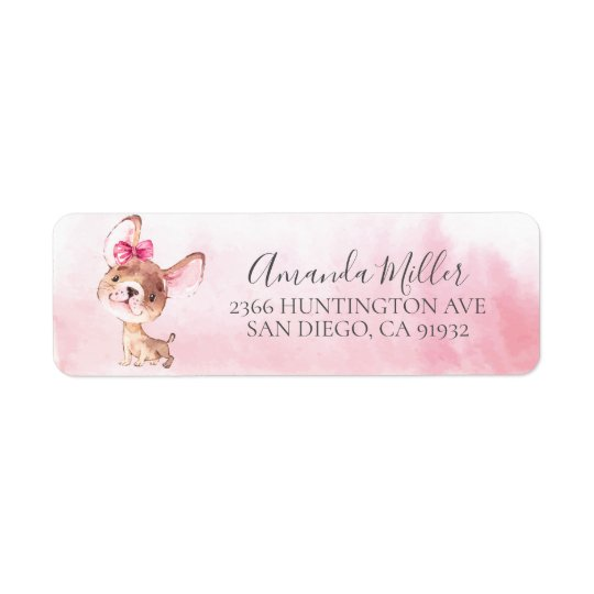 Chic Chihuahua Return Address Label
