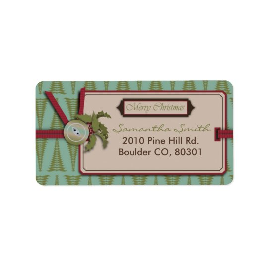 Chic Christmas Address Label