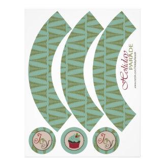 Chic Christmas Cupcake Wrapper Custom Flyer