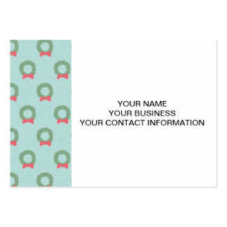 Chic Christmas Wreath Pattern Business Cards