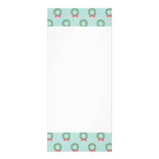 Chic Christmas Wreath Pattern Rack Card