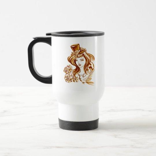 Chic Coffee Painted Art Stainless Steel Travel Mug