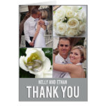 Chic Collage Wedding Thank You Card