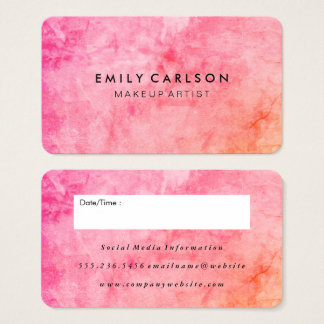 Chic Colorful Grunge Appointment Business Card