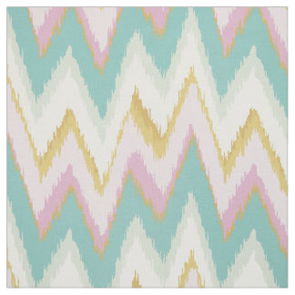 Chic colorful ikat tribal chevron pattern fabric