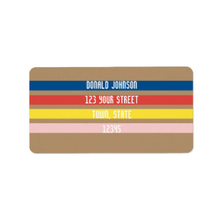 Chic Colors Minimalistic Address Label