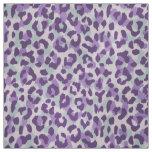 Chic colourful mint purple cheetah print pattern fabric